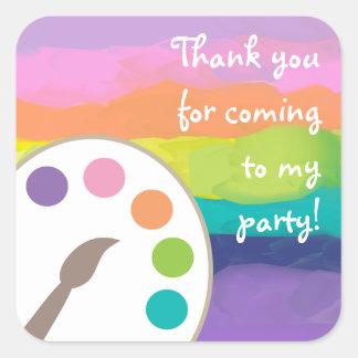 Art Palette Stickers - Rainbow