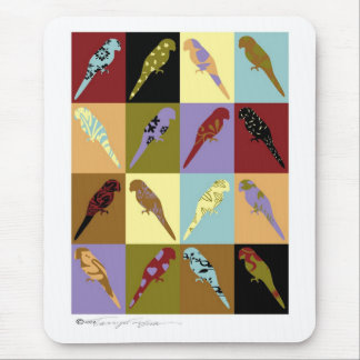 Art: parrot Quilt design gifts Mouse Pad