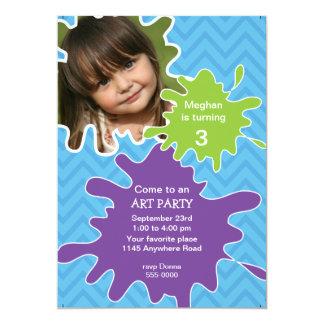 Art Party Birthday Invitation