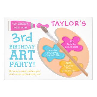 Art Party Birthday Painting Invitation