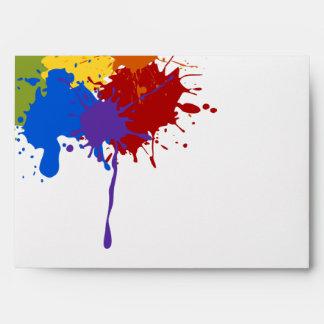 Art Party Brights Paint Splats Envelope