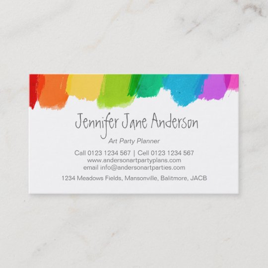 Art party events planning business cards zazzle art party events planning business cards colourmoves