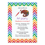 "Art Party for Childs Birthday Party Invitation 5"" X 7"" Invitation Card"