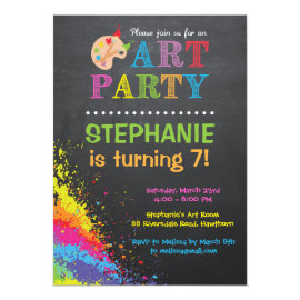 Art Party Invitation / Art Party Invite