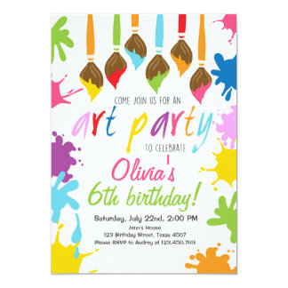 Art Party Invitation Birthday Painting party