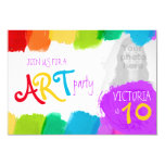 "Art party painting 10th birthday party invite 3.5"" x 5"" invitation card"