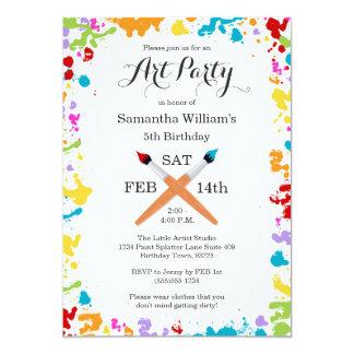 Art Party Painting Birthday Celebration Invitation