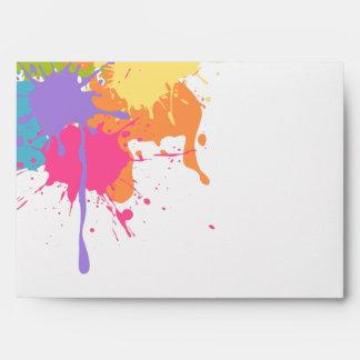 Art Party Pastel Paint Splats Envelope