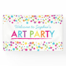 Art Party Personalized Birthday Banner