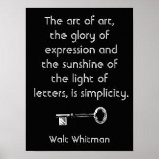 Art pf Art - Walt Whitman quote - art print