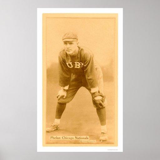 Art Phelan Chicago Cubs Baseball 1914 Poster