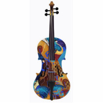 Art Photo 3D Colorful Photo Sculpture Violin Cello