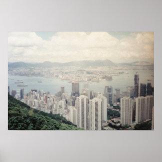 Art Photography Hong Kong Poster Canvas Print