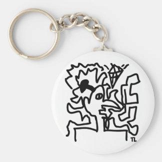 art picture icon basic round button keychain