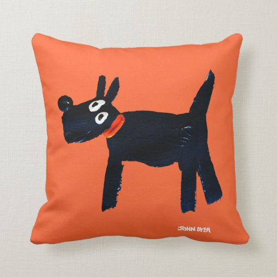 Art Pillow: John Dyer Scotty Dog Throw Pillow