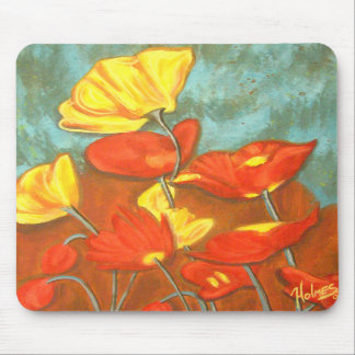 Art Poppies Mouse Pad