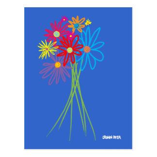 Art Postcard: Flower Bunch Postcard