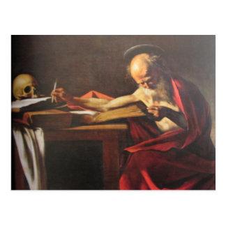 Art postcard of Michaelangelo Caravaggio