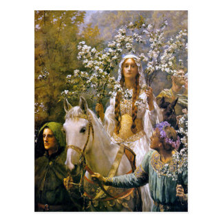 Art Postcard:   Queen Guinevere Postcard