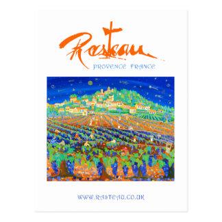 Art Postcard: Rasteau, A Night of Shooting Stars Postcard