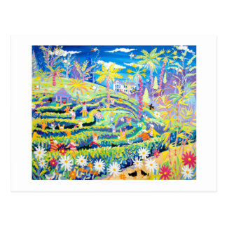 Art Postcard: The Maze at Glendurgan Garden Postcard