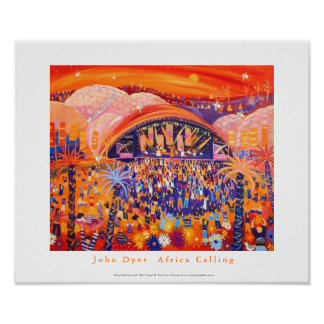 Art Poster: Africa Calling Live 8 The Eden project Poster