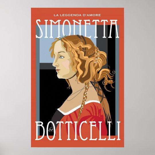 art poster botticelli simonetta vespuci 16x24 poster zazzle com