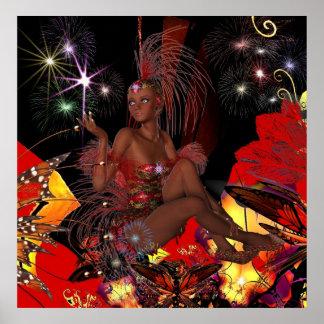 Art Poster Celebration Showgirl