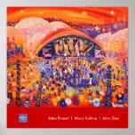 Art Poster: Eden Project LIVE 8 by John Dyer