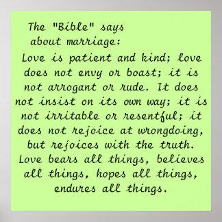 Art Poster- Marriage Scripture