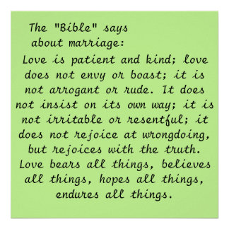 Art Poster- Marriage Scripture Poster