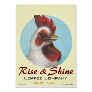 "Art Poster / ""Rise & Shine"" / Sally Coupe Jacobson"