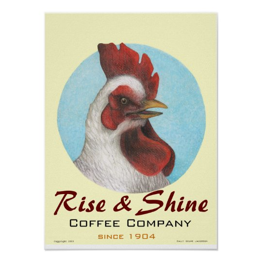 """Art Poster / """"Rise & Shine"""" / Sally Coupe Jacobson"""