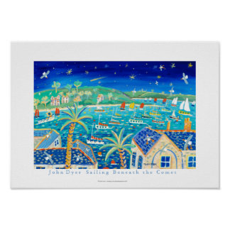 Art Poster: Sailing Beneath the Comet Poster
