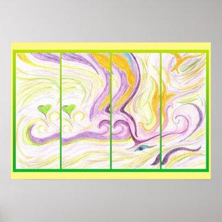 Art Poster - Spirit Love - Abstract Art