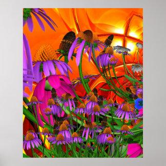 Art Poster Sunshine Flowers