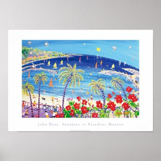 Art Poster: Sunshine in Paradise, Menton France Poster