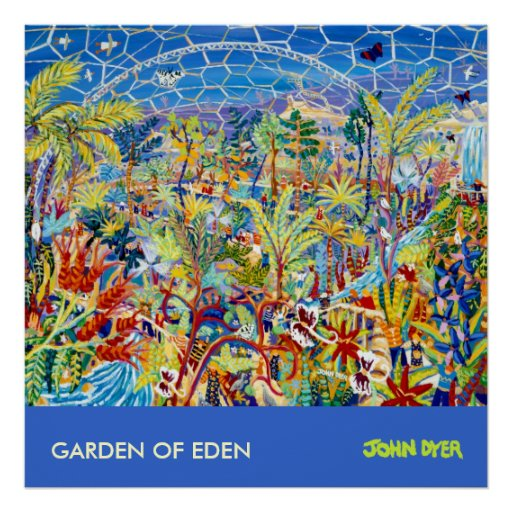 Art Poster: The Eden Project Cornwall, UK