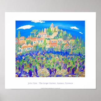 Art Poster: The Grape Harvest, Rasteau, Provence