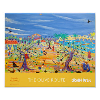 Art Poster The Olive Route Carol Drinkwater
