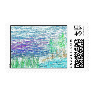 Art  Primative Postage Stamps