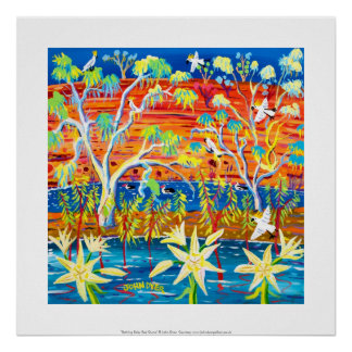 Art Print Bathing Baby Red Gums Banrock Station