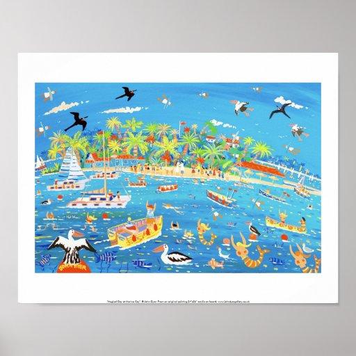 Art Print: Magical Day at Marina Cay. Poster