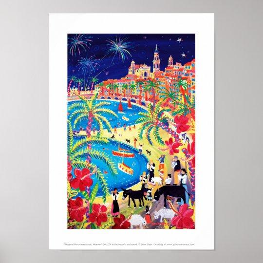 Art Print: Magical Mountain Music, Menton Poster