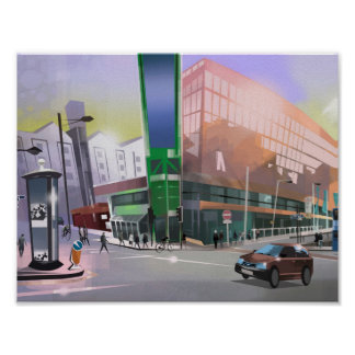 art print Manchester Picadilly TrainStation
