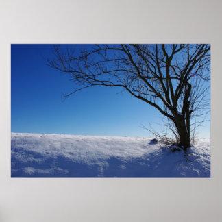 Art print poster winter landscape