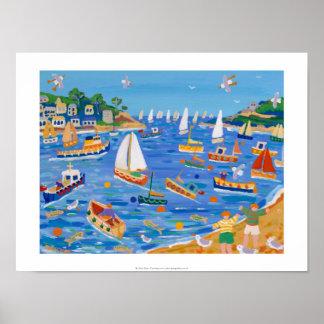 Art Print: Sunday Sailing, Fowey, Cornwall