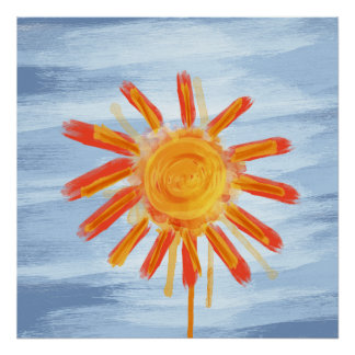 Art Print, Sunshine Painting Poster