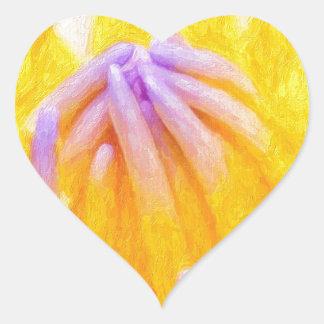 art-purple-lilies heart sticker