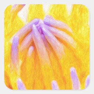 art-purple-lilies square sticker